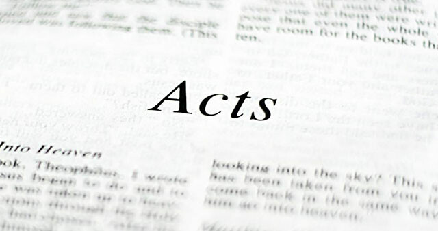 Study the Book of Acts