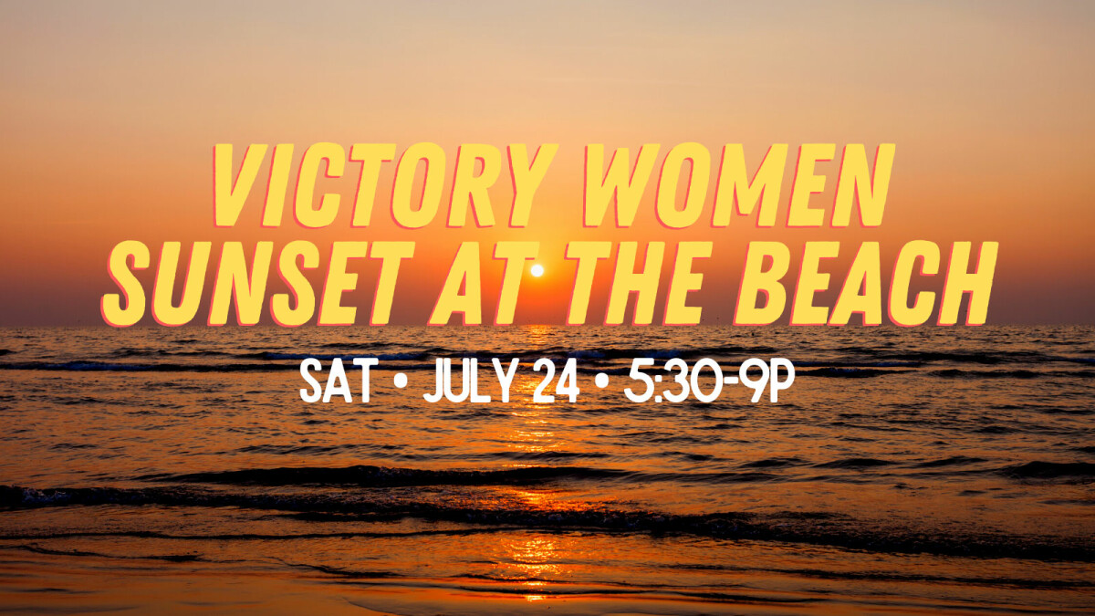Victory Women Sunset at the Beach